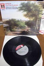 Vivaldi The Four Seasons Renato Fasano vintage vinyl lp record Virtuosi de Roma