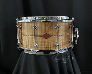 Craviotto Private Reserve Curly Maple w/walnut inlay 7x14 snare drum