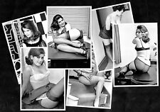 Sexy 1960s Pinup Model Dawn Grayson Postcard Set Nylon Stockings Spick Span Star