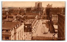 1911 Rooftop View from Review Building, Spokane, WA Coca Cola Sign Postcard