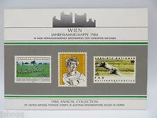United Nations UN Souvenir Stamp Folder - 1984, Vienna, MNH Scott 39-47