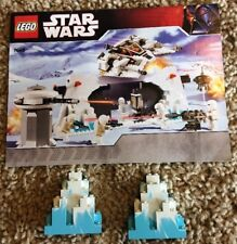 Lego 7666 Star Wars Hoth Rebel Parts LURP Stone Marbled Manual Instruction ONLY