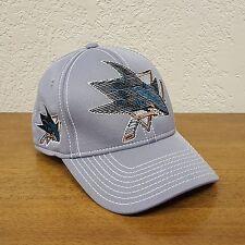 Reebok NHL San Jose Sharks Center Ice Collection Stretch Fit Cap Hat - L / XL