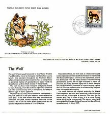 World Wildlife Fund First Day Cover 1977 - Poland - The Wolf