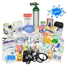 Emergency Medical Supplies Refill Kit First Responders Trauma EMT EMS Med D Tank