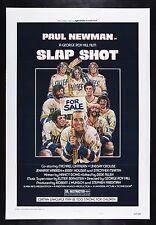 SLAP SHOT ✯ CineMasterpieces PAUL NEWMAN MOVIE POSTER HOCKEY FIGHT SLAPSHOT 1977