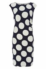 Polyester Casual Round Neck Spotted Dresses for Women