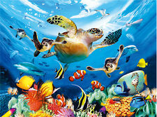 The Underwater World Lenticular 3D Picture Animal Poster Painting Wall Art Decor