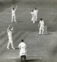 CRICKET OLD PHOTO?Mike Smith, Eric Petrie 1958 1st Test Match - England v NZ
