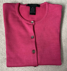 The Limited Hot Pink Silk Cardigan Size M