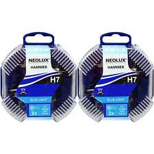 2x Neolux H7 Blue Light 55W PX26d 12V Duo Box Bulb