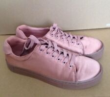 satin sneakers rose gold dusky pink hm size 6.5- 7 new