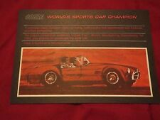 1967 SHELBY COBRA WORLDS SPORTS CAR CHAMPION ORIGINAL DEALER SALES BROCHURE RARE