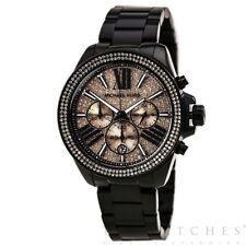 Michael Kors Uhren MK5879 Rose Gold & Schwarz Chronograph Damenuhr