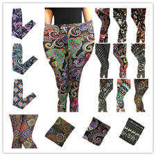 Free Ship Plus Fabulous Patterns Floral Printed Women Leggings Pants SZ XL-XXXXL