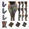 Free Ship Plus Fabulous Patterns Floral Printed Women Leggings Pants SZ XL-XXXXL