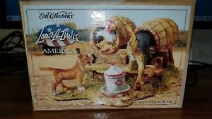 """Lowell Davis """"Get One For Me"""" Figurine Dogs Stealing Chicken Eggs by ERTL NIB"""