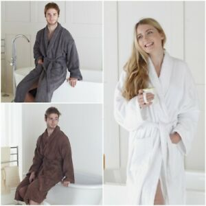100% EGYPTIAN COTTON TERRY TOWEL DRESSING GOWN TOWELLING BATH ROBE UNISEX