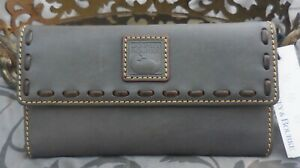 Dooney & Bourke ~Florentine Leather Continental Clutch Wallet ~SLATE~NWT $168