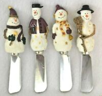 Cheese Spreaders (4) Boston Warehouse Snowman Stainless Steel