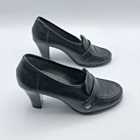 Aerosoles Rollatini Women Black Slip On High Heel Shoe Size 7M EUR 37 Pre Owned