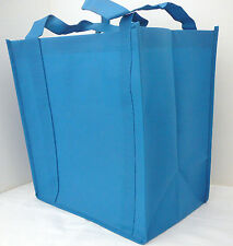 Medium Size Reusable Recyclable MAUI BLUE Heavy Duty Grocery Bag With Insert