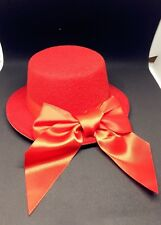 """5"""" RED COSPLAY MINI TOP PARTY HALLOWEEN BOW HAT HAIR FASCINATOR WEDDING"""