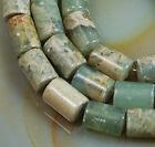 "5x8mm Natural Serpentine Stone Column Gem Beads 16"""