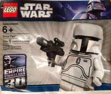 Muy Raro Star Wars Lego Blanco Boba Fett Minifigura Bolsa De Polietileno Sellado Promo Figura