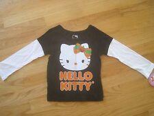 Girl HELLO KITTY HALLOWEEN GLITTERY FACE BLACK top shirt NWT 3T