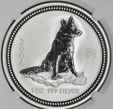 RARE ! ~ 2006 ~ 1~OZ .999 SILVER ~ YEAR of the DOG ~ NGC ~ MS~69 ~ $118.88