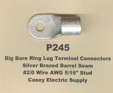 10 Bare Ring Lug Brazed Barrel Seam Terminal Connector 20 Wire 516 Stud Molex