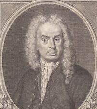 Portrait XVIIIe Girolamo Gigli Poète Conteur Satiriste Accademia della Crusca