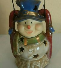 Snowman Tealite Candle Holder