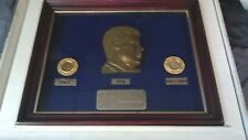 JOHN KENNEDY JFK COMMEMORATIVE COIN SET 1964 GOLD HALF DOLLAR RUBY EMERALDS COA