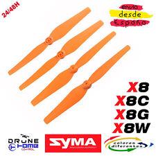 Hélice SYMA X8 X8C X8W X8G X8HC X8HW X8HG. Drone hélice multicolor. Propellers
