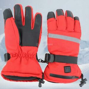 Electric Heated Gloves Touch Screen Winter Hand Warm Windproof for Men Women