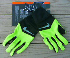"NWT NIKE Dri-Fit ""Tempo"" Mens Run Gloves-XL Ret@$22 BLACK/VOLT"