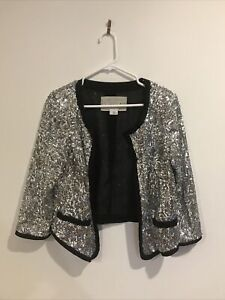 Sequin Cropped Jacket