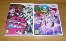 2 jeux nintendo wii - Monster high lycée d'enfer + Course de roller CRIM