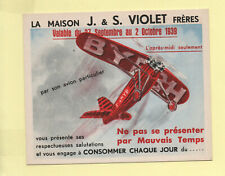 invitation baptême de l'air BYRRH Belfort 1939