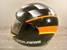Vtg Polaris Racing Snowmobile Sled Riding Indy Helmet Lid Medium 7 1/8- 7 1/4