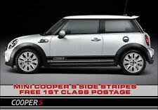 BMW Mini Rayas Laterales John Cooper S Estilo, Works S JCW Gráfico de vinilo, Premium