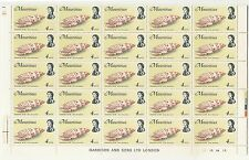 Elizabeth II (1952-Now) Sheet Mauritian Stamps