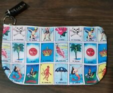 """New Images of Don Clemente loteria Bingo Cosmetics Bag Or Money Bag 8"""" x 4"""" x 1"""""""