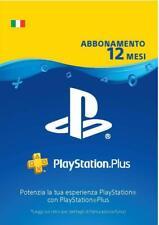 Abbonamento di 12 mesi Playstation Plus - codice da riscattare - Regione: Italia