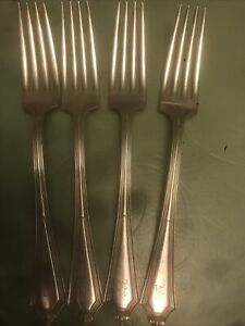 Sterling Silver Flatware 4 Forks 218g