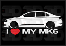 I Heart My MK6 Sticker Jetta GLI Germany Love VW Volkswagen Slammed Euro