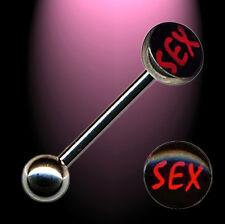 Zungenpiercing SEX Tongue Barbell Chirurgenstahl