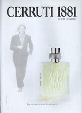 Nino Cerruti 1881 Fragrance 1995 Magazine Advert #4114